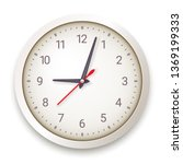 modern quartz wall clock on... | Shutterstock .eps vector #1369199333