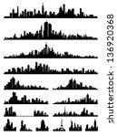 set of detailed city  ... | Shutterstock . vector #136920368