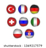 country flag. turkey  germany  ... | Shutterstock .eps vector #1369217579