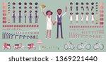 bride and groom  happy black...   Shutterstock .eps vector #1369221440