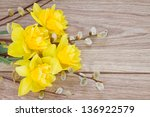 Bouquet Of Yellow Narcissus...