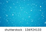 Stock photo the christmas snowfall in the evening 136924133