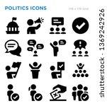 politics vector icon set | Shutterstock .eps vector #1369242926