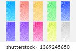 set of circle line abstract... | Shutterstock .eps vector #1369245650