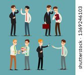 businessman talking. young...   Shutterstock .eps vector #1369246103
