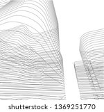 architectural drawing 3d...   Shutterstock .eps vector #1369251770