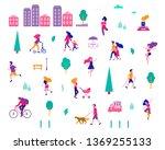 different activities of people... | Shutterstock .eps vector #1369255133