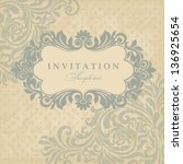 wedding invitation cards... | Shutterstock .eps vector #136925654