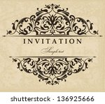 wedding invitation cards... | Shutterstock .eps vector #136925666