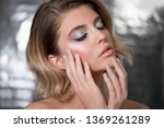 beautiful young woman with... | Shutterstock . vector #1369261289