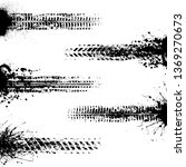 set of different grunge black...   Shutterstock .eps vector #1369270673