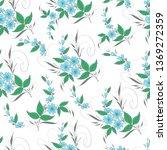 seamless pattern a bouquet of...   Shutterstock .eps vector #1369272359