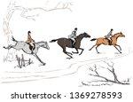 English Equestrian Sport Fox...