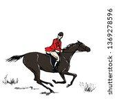 equestrian sport fox hunting... | Shutterstock .eps vector #1369278596