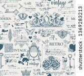 vector seamless pattern  hand... | Shutterstock .eps vector #1369283213