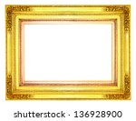 gold picture frame on white... | Shutterstock . vector #136928900