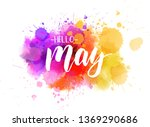hello may handwritten modern... | Shutterstock . vector #1369290686