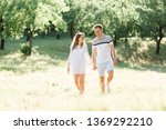 young pretty couple in love... | Shutterstock . vector #1369292210