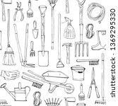 seamleass pattern with hand... | Shutterstock . vector #1369295330