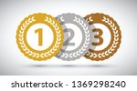 top three medals | Shutterstock .eps vector #1369298240