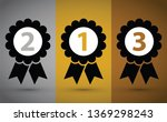 top three medals | Shutterstock .eps vector #1369298243