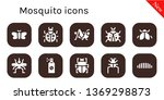 mosquito icon set. 10 filled... | Shutterstock .eps vector #1369298873