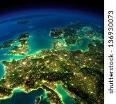 highly detailed earth ... | Shutterstock . vector #136930073