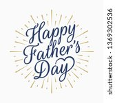happy fathers day vintage... | Shutterstock .eps vector #1369302536