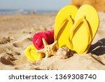 Color Felt Tips On Sandy Beach...