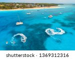 Aerial View Of Boats And...