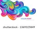 modern colorful flow poster.... | Shutterstock .eps vector #1369325849