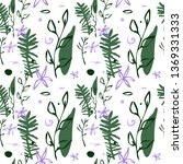 vector seamless pattern with... | Shutterstock .eps vector #1369331333