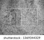 soccer field lines on old paper   Shutterstock . vector #1369344329