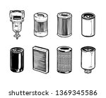 types of filters for heavy... | Shutterstock .eps vector #1369345586