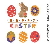 colorful sweet happy easter...   Shutterstock .eps vector #1369354166