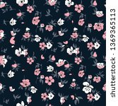 seamless pattern with flowers.... | Shutterstock .eps vector #1369365113