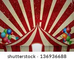 vintage circus tent poster for... | Shutterstock .eps vector #136936688