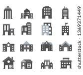 building set icons | Shutterstock .eps vector #1369371449