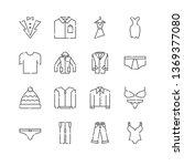 line icon set. clothes linear...