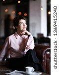 successful woman has a break...   Shutterstock . vector #1369415240