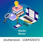 media book library concept... | Shutterstock .eps vector #1369420373