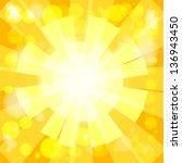 summer background. shiny...   Shutterstock .eps vector #136943450