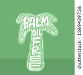palm oil free. no palm oil.... | Shutterstock .eps vector #1369439726