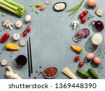 Asian Food Ingredients With...
