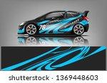 car decal wrap design vector.... | Shutterstock .eps vector #1369448603