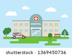 the hospital building is... | Shutterstock .eps vector #1369450736