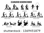 cardio exercises and fitness... | Shutterstock .eps vector #1369451879
