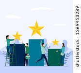 business team and competition ... | Shutterstock .eps vector #1369453289
