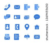 contact us vector icons set.... | Shutterstock .eps vector #1369455650