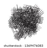 chaos on white. abstract... | Shutterstock .eps vector #1369476083